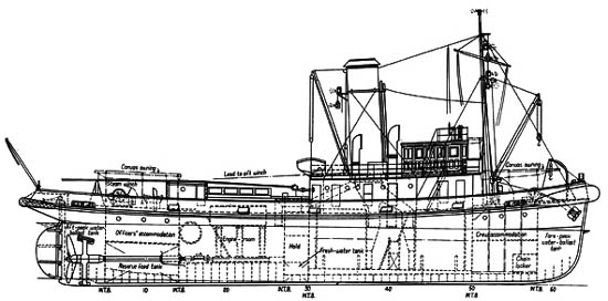 WILLIAM C DALDY as built - from The Shipbuilder and Marine Engine Builder, Feb 1936